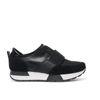 Zwarte sneakers van leer