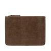 Bruine clutch met snakeprint