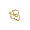 LUZ - ring double V goud