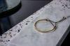 LUZ - delicate cuff armband goud