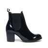 Schwarze Chelsea-Boots Lackleder