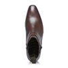 Lage bruine boots met gesp