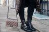 Bottes motardes avec boucles - noir