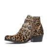 Buckle Boots mit Pantermuster