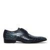 Giorgio Azzurro 46998 blauwe veterschoenen snakeskin