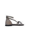 Graue Sandalen mit Nieten