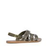 Sandalen grün/silber