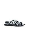 Sandalen schwarz/weiß