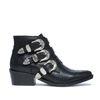 Zwarte buckle boots