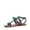 Donkerblauwe sandalen