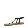 Sandalen zwart met goud
