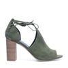 Sandales ajourées à talon - vert