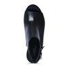Zwarte peep-toe sandalen met hak