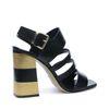 Sandales à talon - noir/doré