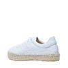 Weiße Sneaker mit Jutesohle