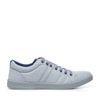 Sneakers lichtblauw met patroon
