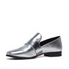 Metallic loafers zilver