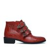 Buckle boots rood