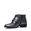 Buckle boots zilver metallic