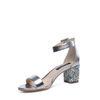 Sandales à talon - métallisé argenté