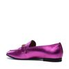 Metallic-Loafer fuchsia