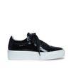 Zwarte sneakers lakleer