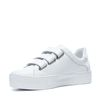 Witte platform sneakers met klittenband