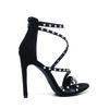 Steve Madden sandalen met hak en parels zwart