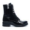 Zwarte biker boots lakleer