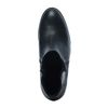 Zwarte laarzen met hak en sierrits