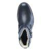 Zwarte lage boots met gespen en imitatiebont