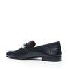 Zwarte loafers met parels