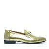 Metallic loafers goud
