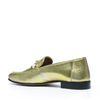 Metallic loafers goud