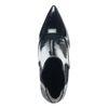 Zwarte lak enkellaarsjes met hak en spitse neus