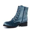 Velvet biker boots blauw