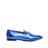 Metallic-Loafer blau