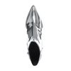 Paco Gil silberne Metallic-Stiefeletten