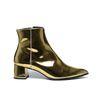 Paco Gil metallic gouden enkellaarsjes
