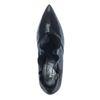 Paco Gil metallic zwarte pumps met ruffles