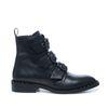 Zwarte biker boots met studs en gespen