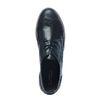 Metallic zwarte veterschoenen
