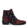 Rode zebra buckle boots