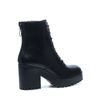 Zwarte veterschoenen met blokhak