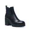 Zwarte chelsea boots met plateau zool