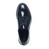 Zwarte lakleren veterschoenen met plateau zool