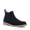 Donkerblauwe lage chelsea boots