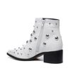 Sacha x Fashionchick bottines avec clous - blanc
