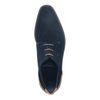 Blaue Veloursleder-Schnürschuhe mit Detail
