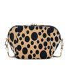 Velvet schoudertas met leopard print